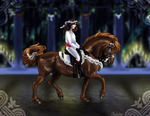 Gingerbread pony - Spread the Light dressage entry by Ohdotar