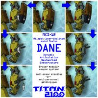 DANE - modular arm weapons (for T.I.T.A.N. 2100) by Grebo-Guru