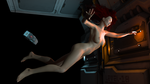 Naked Chick in Freefall by AbaKon