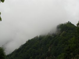 Mountain in the cloud II by fairling-stock