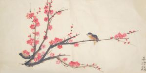 Plum Blossoms by Mosrael-the-Waker