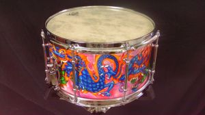 028 Dragon custom snare drum by InVistaArts