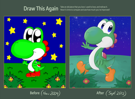 Draw This Again: Yoshi by Candy-Swirl
