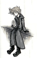 Angsty Roxas- Grey Toned by Lowland-Swagger