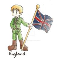 Hetalia Chibi England Colored by Inamkur