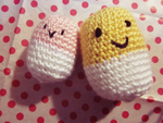 Amigurumi Happy Pills by sunshowerdroplets