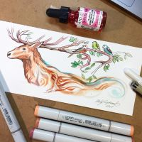 Stag Sketch by Lucky978