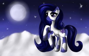 Winter Moonlight by BubblegumBloo