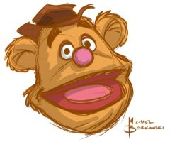 Fozzy Bear Warm Up Sketch by MBorkowski