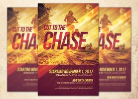 Cut to the Chase Church Flyer Template by Godserv