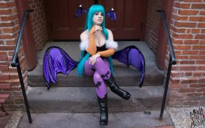 Perched Morrigan by Lily-in-Leather