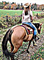 Fall horse riding by KPCosplays