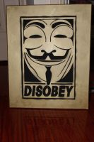 DISOBEY GUY FAWKES STENCIL by HKDOMO