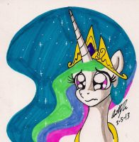 Celestia's Cute and Sad Face by newyorkx3