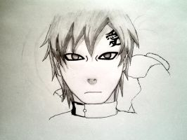How to draw Gaara Step 7 by pagesofmylife