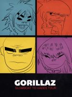 Gorillaz Poster (front ) by NightBlossom66