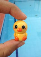 Kawaii duck charm by Saloscraftshop