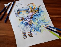 Chibi Syndra and Zed by Lighane