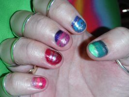 Coloured nails 2 by Amazinadrielle