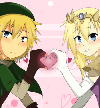 ce: Princess Namine and Roxas by LilyTC