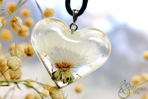 Dandelion Heart Pendant by Wonder-fox