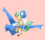 Commission: Latios and Leafeon by Bluekiss131
