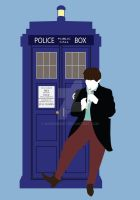 Two and the TARDIS by HaddonArt