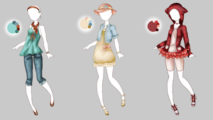 .:Outfit Adopts 2:. by Crystallyna