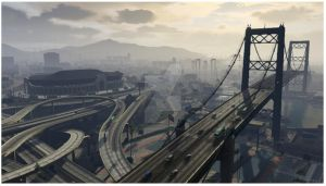 Morning over downtown Los Santos by Grey-Knight