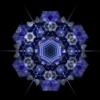 Out of the Blue Mandala by recycledrelatives