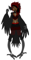 Preened Blacked Feathers by iAriaArt