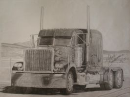 Optimus Prime Truck Sketch by MNS-Prime-21