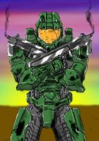 HALO Master Chief :3 by DeviantDolphinART