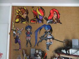 Perler Beads Wall February 2015 part 1 by Cimenord