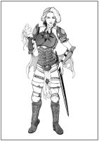 Battlemage Pathfinder Design (Inks) by PlutonianKnight