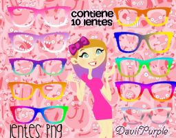 Lentes png by Daviipurple
