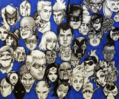 Dc Faces Pencil Sketch by NickUnlimited