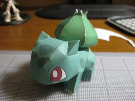 Paper Bulbasaur by PaperJoey