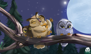 owl - Talking to the mooooooooon by Keylalima
