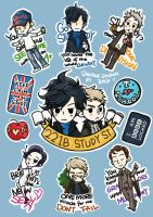 SHERLOCK | GO STUDY! printable stickers~ by tedizack