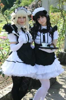 Two Sisters At Your Service by OppositeCosplay