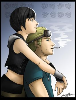 Cid and Yuffie by SilentReaper