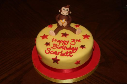 Mr Monkey Birthday Cake by nah-belle