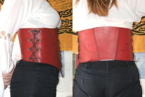 Red corset - 2 by Karbanog