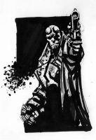 Warm-Up Sketch: Hellboy by stokesbook