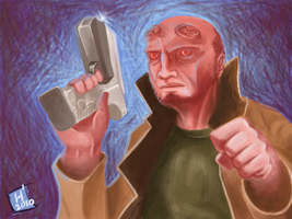 HellBoy - made with NintendoDS by Huroman