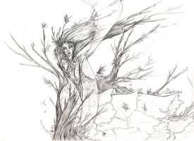 Fairy: The wood Lady lineart by driany