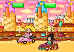 the glitch in mario kart 8 by ninpeachlover