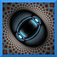 Blue Scarab by rvallync