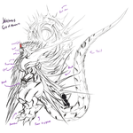 Xerimus Colossal Kaiju Combat sketch by exuitirteiss